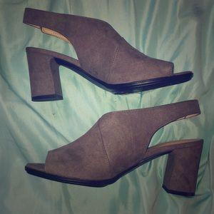 Grey booties/heels